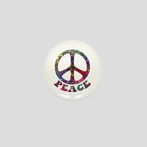 Jewelled Peace Symbol Mini Button