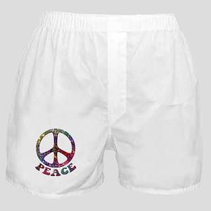 Jewelled Peace Symbol Boxer Shorts