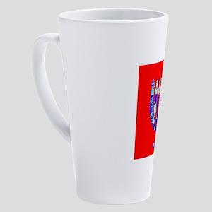 Blue Red Menorah 4Rebecca 17 oz Latte Mug