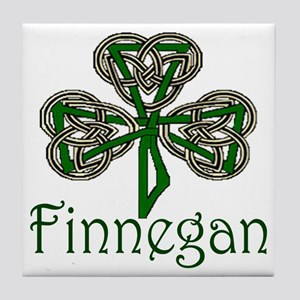 Finnegan Shamrock Tile Coaster