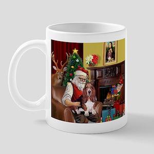 Santa's Basset Hound Mug