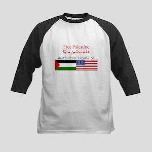 USA Support Palestine Kids Baseball Jersey