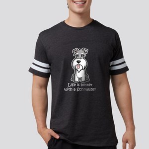 Life-is-better-with-a-Schnauzer-dark T-Shirt