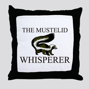 The Mustelid Whisperer Throw Pillow