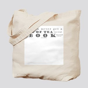 You can never get..tea..book Tote Bag