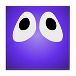 Purple Blob Eyes Tile Coaster