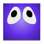 Purple Blob Eyes Tile Coaster