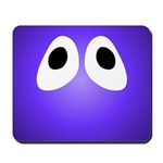 Purple Blob Eyes Mousepad