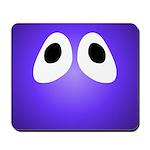 Purple Blob Eyes Mousepad