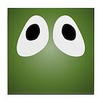 Green Blob Eyes Tile Coaster