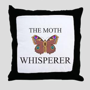 The Moth Whisperer Throw Pillow