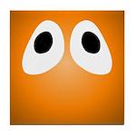 Orange Blob Eyes Tile Coaster
