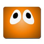 Orange Blob Eyes Mousepad
