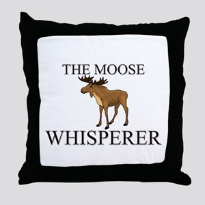The Moose Whisperer Throw Pillow
