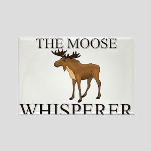 The Moose Whisperer Rectangle Magnet