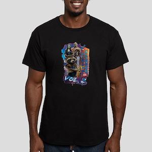 GOTG Paint Men's Fitted T-Shirt (dark)