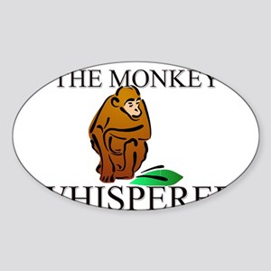 The Monkey Whisperer Oval Sticker