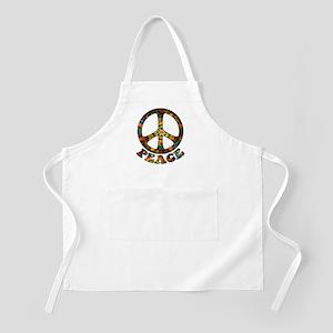 Painted Peace Symbol Apron