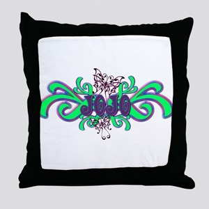 JoJo's Butterfly Name Throw Pillow