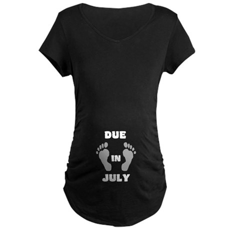 Due In July (black&white/belly) Maternity T-Sh