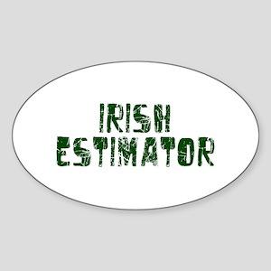 Irish Estimator Oval Sticker