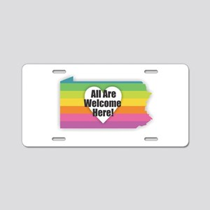 Pennsylvania - All Are Welc Aluminum License Plate
