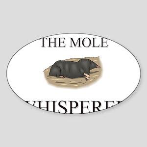 The Mole Whisperer Oval Sticker