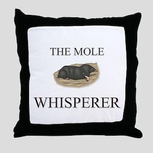 The Mole Whisperer Throw Pillow