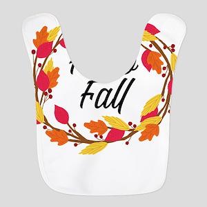 Hello Fall Thanksgiving Leaves Polyester Baby Bib