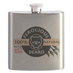 FerociousBeard100Natural Flask