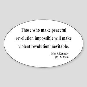 John F. Kennedy 16 Oval Sticker