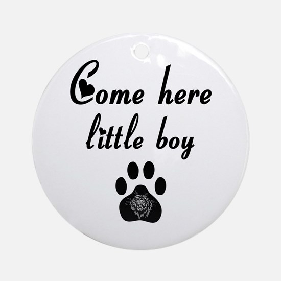 Cougar: Come Here Little Boy Ornament (Round)