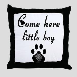 Cougar: Come Here Little Boy Throw Pillow