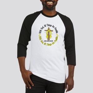With God Cross LIVER CANCER Baseball Jersey