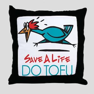 Veggie Tofu Throw Pillow