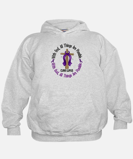 With God Cross LUPUS Hoodie