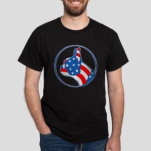 Boston Terrier Flag Dark T-Shirt
