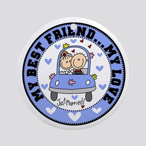 Best Friend and Love Ornament (Round)