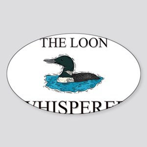 The Loon Whisperer Oval Sticker