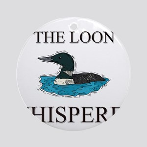 The Loon Whisperer Ornament (Round)