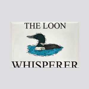 The Loon Whisperer Rectangle Magnet