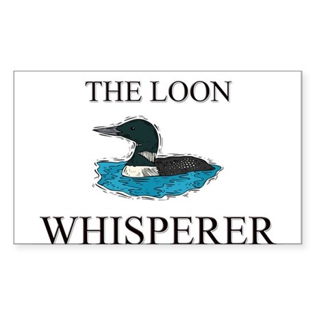 The Loon Whisperer Rectangle Sticker