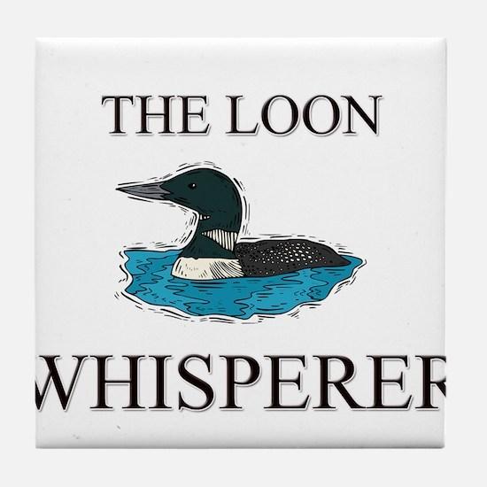 The Loon Whisperer Tile Coaster