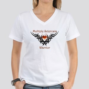 MS Warrior Women's V-Neck T-Shirt