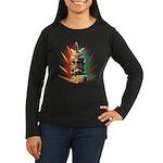 African Women's Long Sleeve Dark T-Shirt