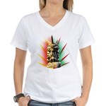 African Women's V-Neck T-Shirt