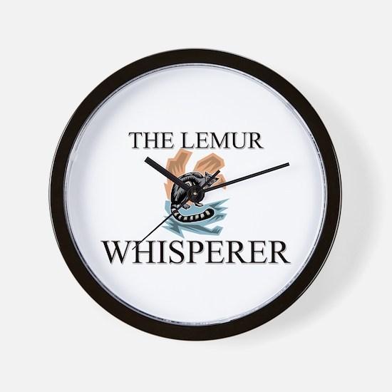 The Lemur Whisperer Wall Clock