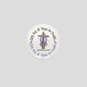 With God Cross PROSCANC Mini Button