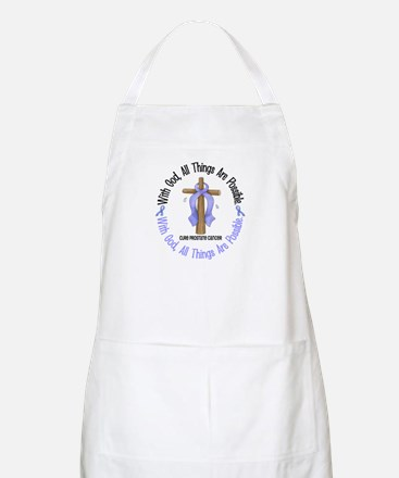 With God Cross PROSCANC BBQ Apron
