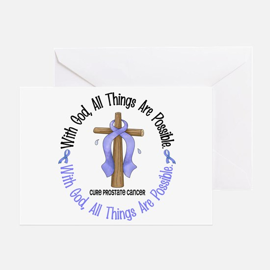 With God Cross PROSCANC Greeting Card